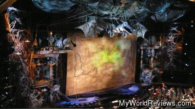 The Stage of Wicked  (before the show)